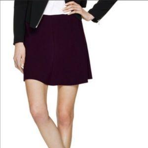 Wilfred Aritzia Burgundy Flare Mini Skirt 8